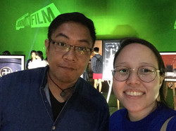 Guests at Born in Film's first exhibit