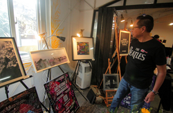 A display of Bhong Odal's works at Overexposed event