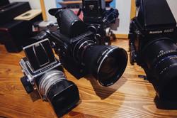 Medium Format cameras on display at StratoBOX Studios Gallery