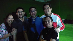 Guests with Franz Lopez at Born in Film's first exhibit at Riverside Studios Makati