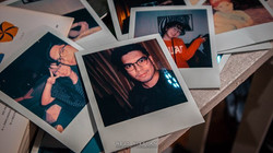 A collection of Polaroid  at Born in Film's first exhibit