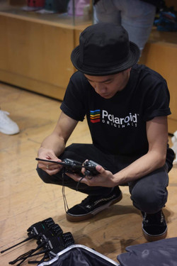 Behind the scenes R.O.X in BGC for Born in Film and Polaroid's film photography workshop