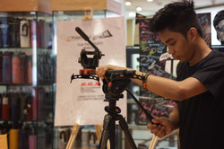Behind the scenes at R.O.X in BGC for Born in Film and Polaroid's film photography workshop