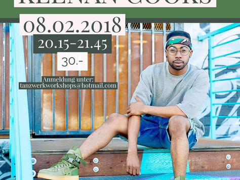 Workshop mit KEENAN COOK und neue OPEN CLASSES