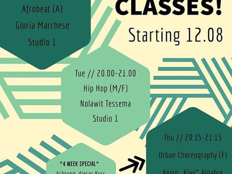 Die Sommerferien sind fertig - Kursbeginn Montag 12. August 2019 mit neuen Klassen!