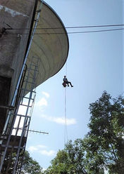 Watertower Abseil Painting