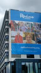 Banner Install Radius Housing Belfast