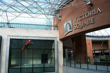 Cleaning Victoria Square Belfast