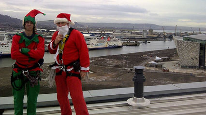 Promotional Abseil Christmas