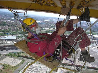 Painting Harland Wolff Cranes Belfast