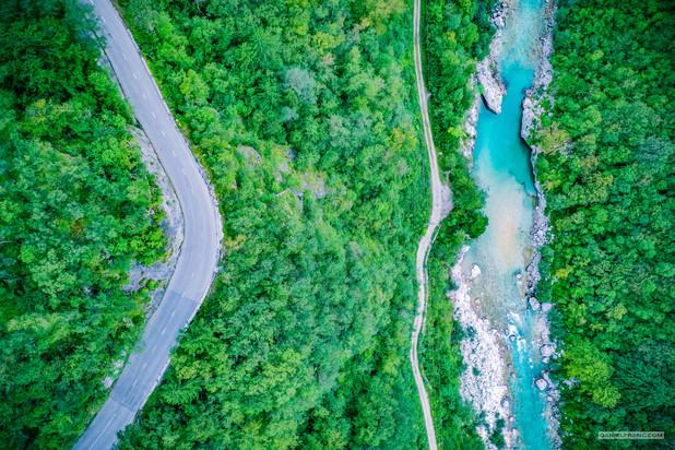 - údolí Soči, Slovinsko -