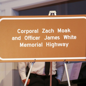 Corporal Zach Moak and Officer James White Memorial Highway dedicated in Lincoln County