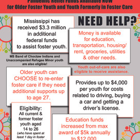 Pandemic Relief Funds Available for Older Foster Youth/Former Foster Youth Ages 14 to 26