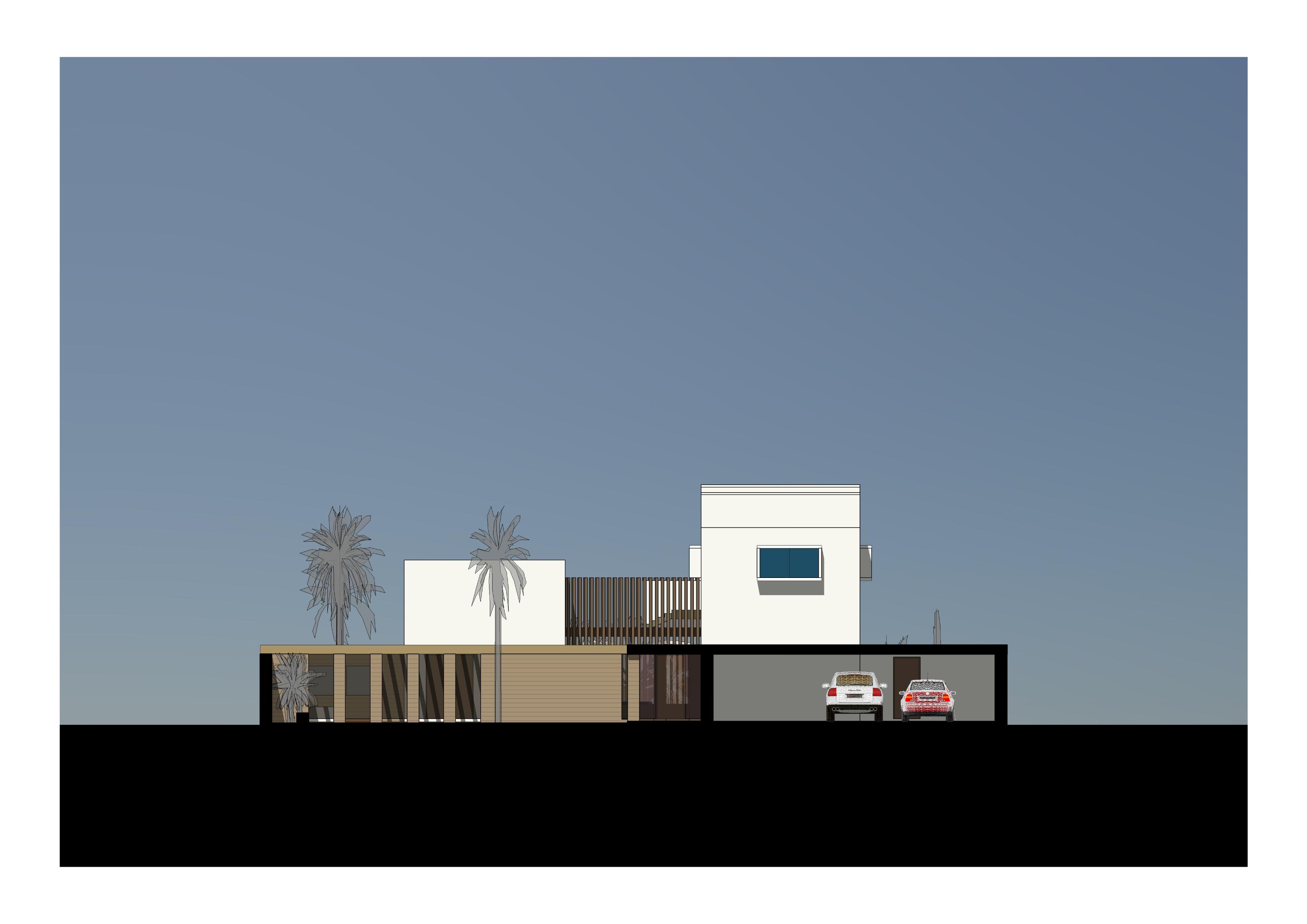 Street elevation of property
