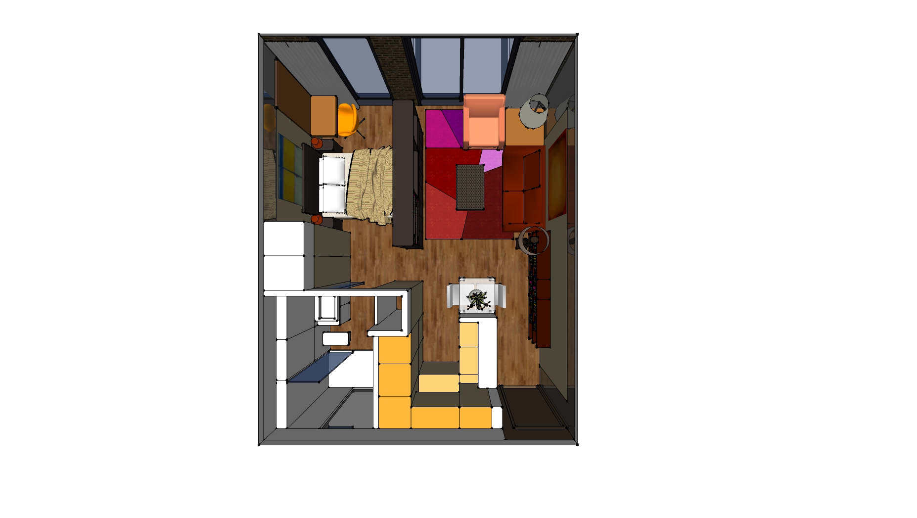 UNIT_37sqm_square shape_View 101