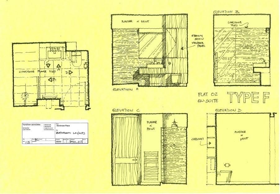 Conceptual design of bathroom
