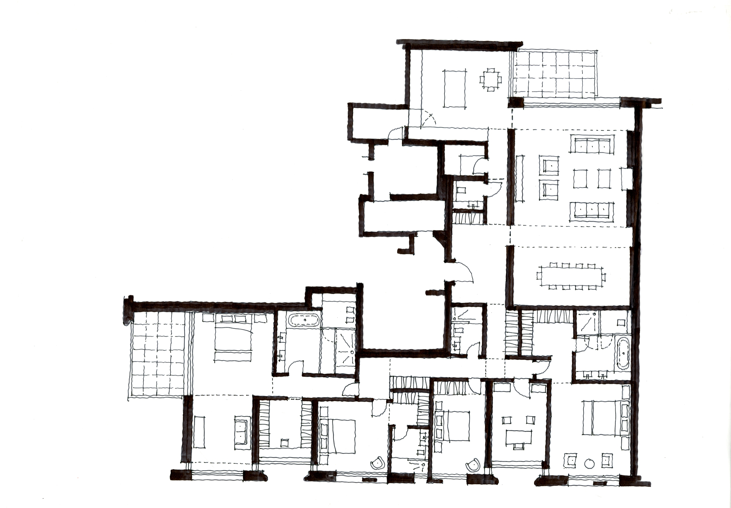 initial design of apartment layout