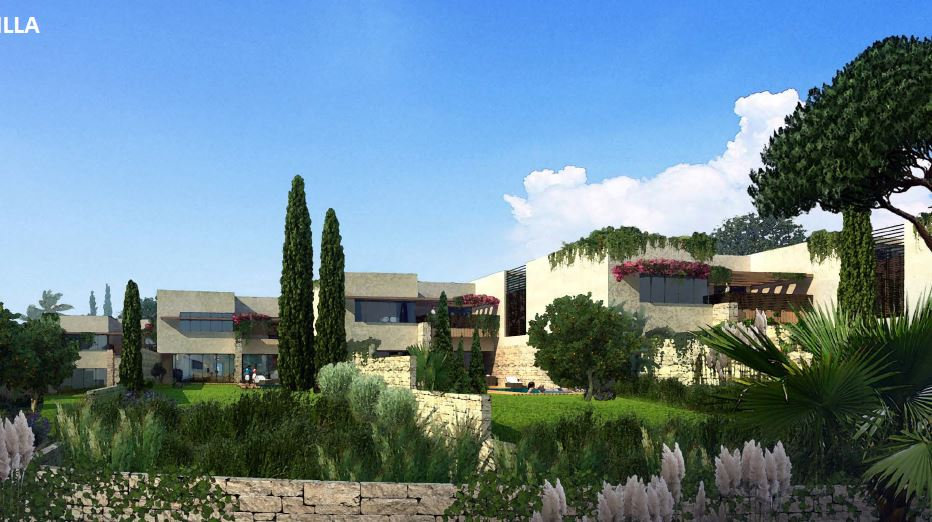 Design of garden Villas