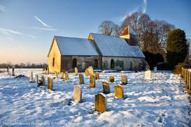 Church on a snowy morning