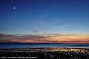 Moon & Venus at Dusk