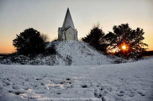 Farley mount on a snowy sunset