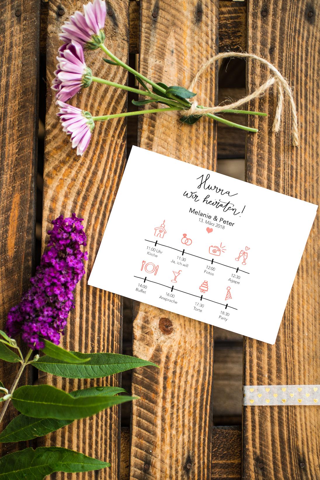 Hochzeits-Timeline