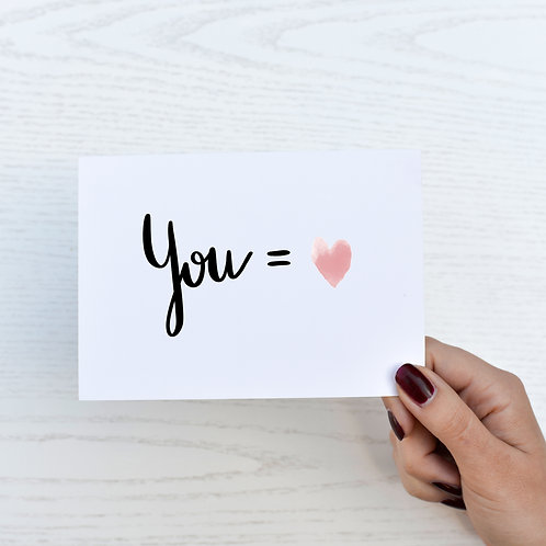 Postkarte - You = <3
