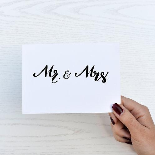 Postkarte - Mr. & Mrs.