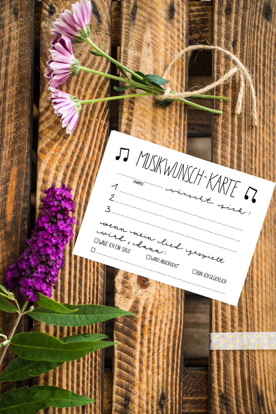 Musikwunschkarten