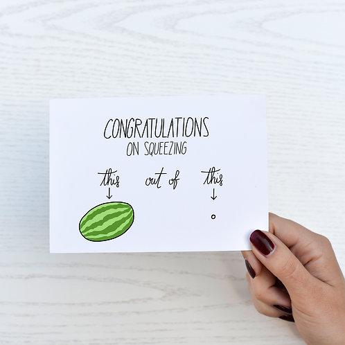 Gratulationskarte watermelon