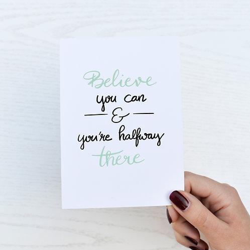 """Postkarte """"Believe"""""""