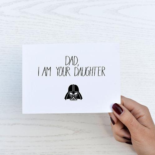 Postkarte Vatertag 'Star Wars'