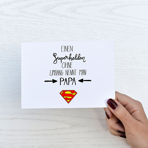 Postkarte Vatertag 'Superdad'