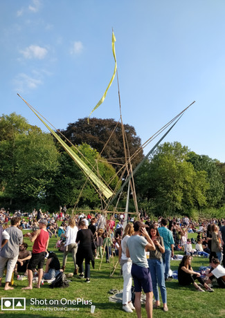Bamboo structures for festival