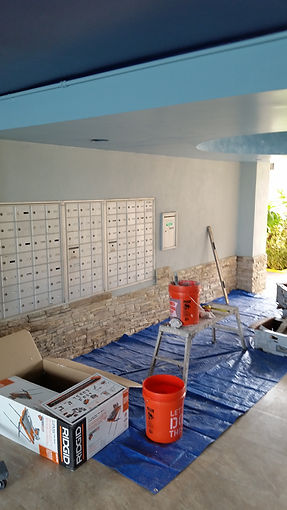 Mail room wall