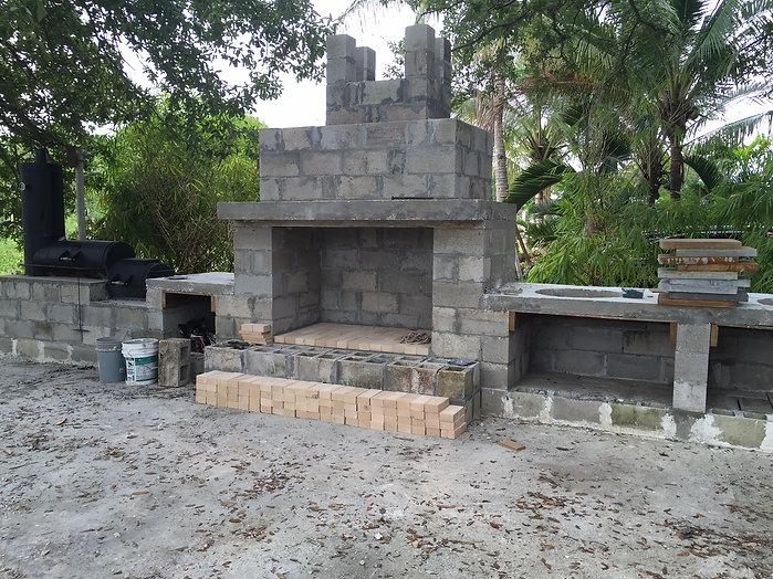 BBQ island frame