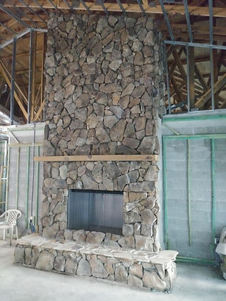 Real Rock Fire place