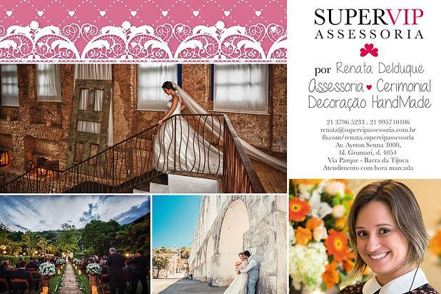 Contato - Supervip Assessoria, Cerimonial e Decoração de Casamentos. Cerimonialista e Decoradora Renata Delduque