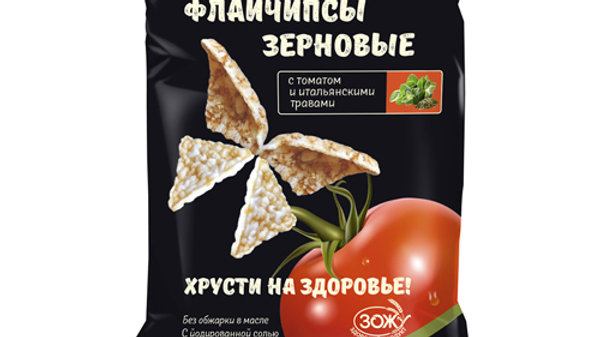 Флайчипсы зерновые с томатом