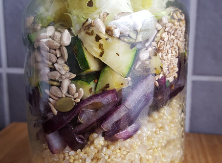 Salad in a jar. Oh, how I love them!!