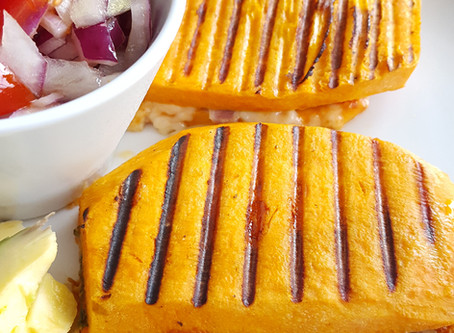 Sweet potato grilled cheese sandwich