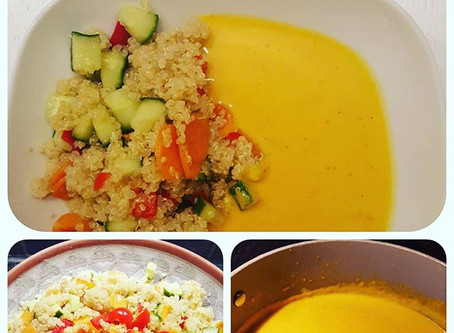 Sweet potato soup with quinoa