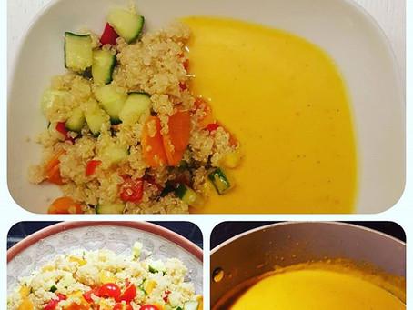 Sweet potato soup with quinoa