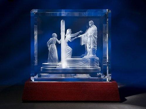 Come Unto Me - Crystal Sculpture (Small)