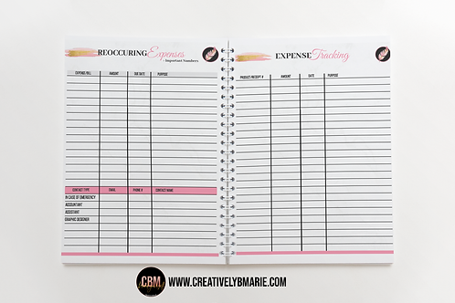 Hustle Babe Expense Tracking (52 sheets)