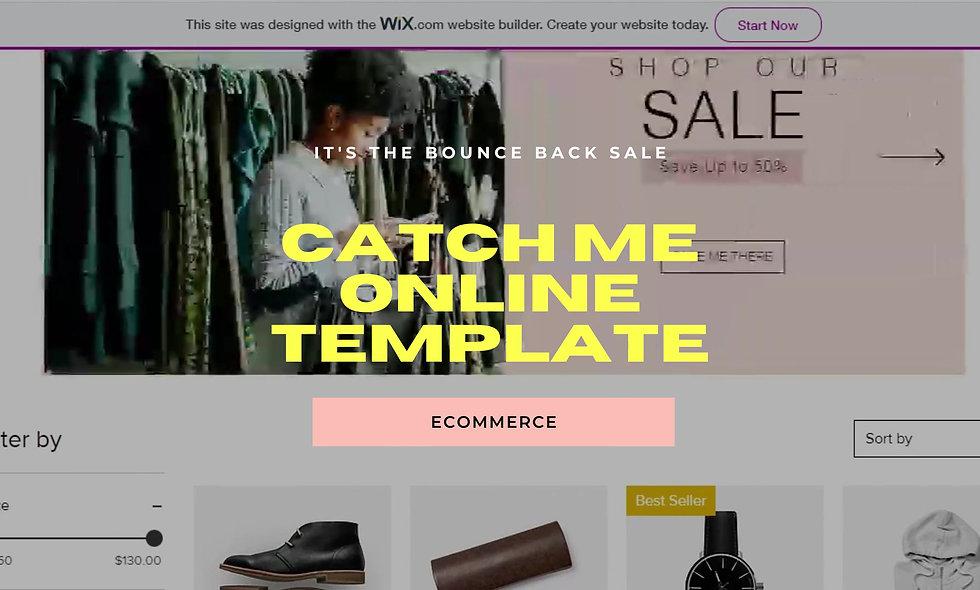 Catch Me Online Website Template