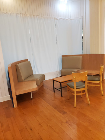 Privacy Curtains and Lounge Seating