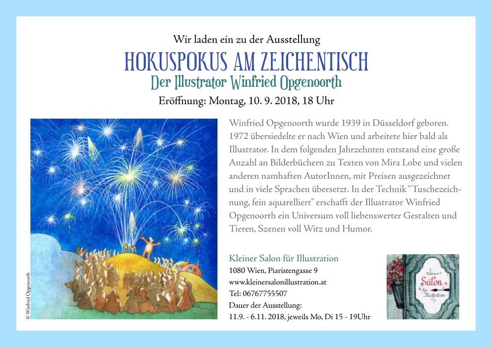 Einladung zur Ausstellung: Hokuspokus am Zeichentisch von und mit Winfried Opgenoorth