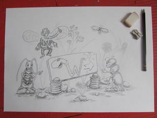 Wie eine Kinderbuch Illustration entsteht
