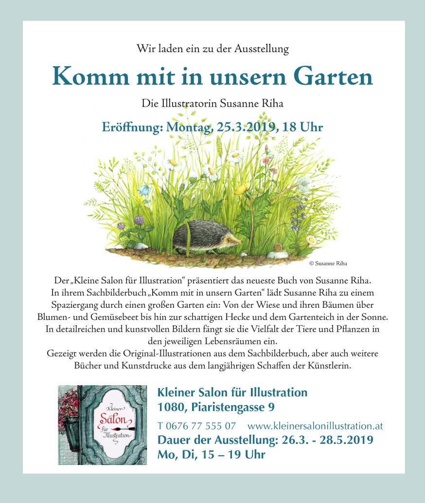 """Ausstellung """"Komm mit in unsern Garten"""" von Susanne Riha"""
